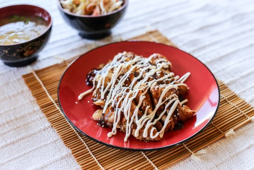 Chicken Teriyaki on bed of Stir Fried Bean Sprouts 2