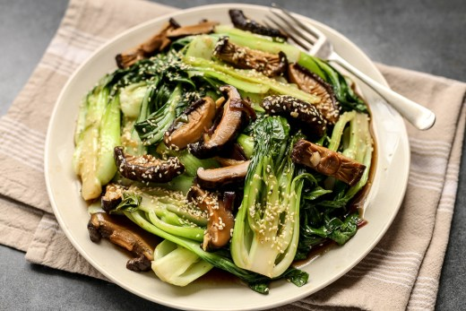 Bok Choy with Shiitake Mushrooms 1