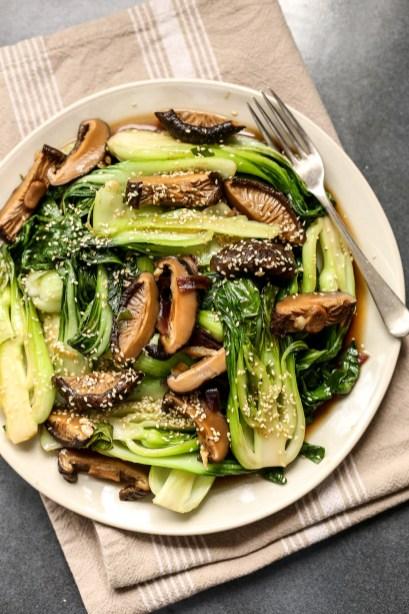 Bok Choy with Shiitake Mushrooms 2