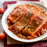 Smoked Salmon in Tomato and Caper Sauce 1
