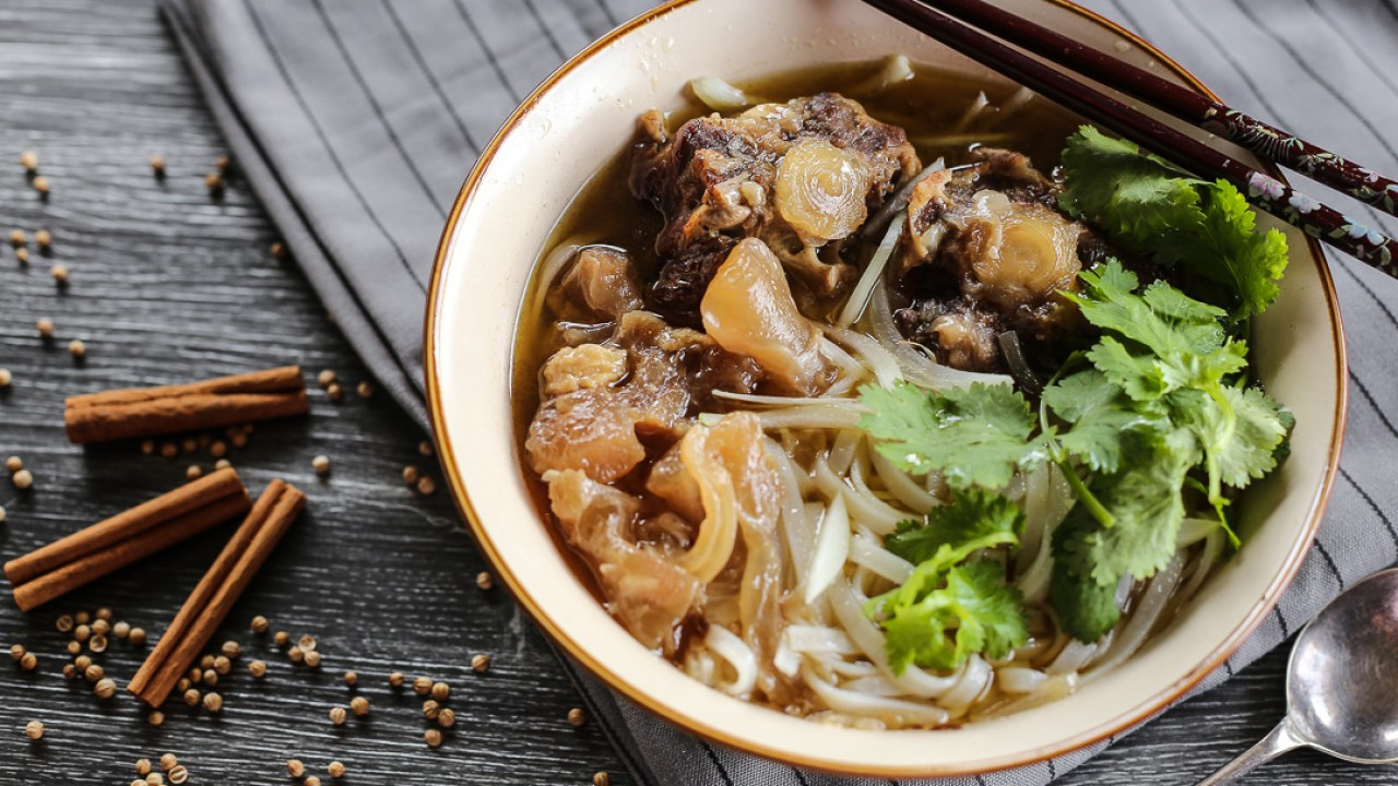 Pho Bo With Oxtail And Tendons Ang Sarap