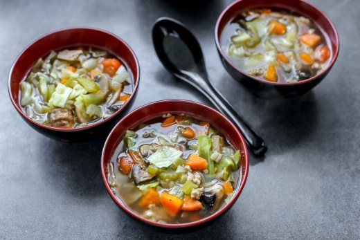 Cabbage Vegetable Soup 1