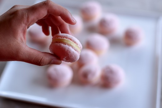 Strawberry French Macarons 1