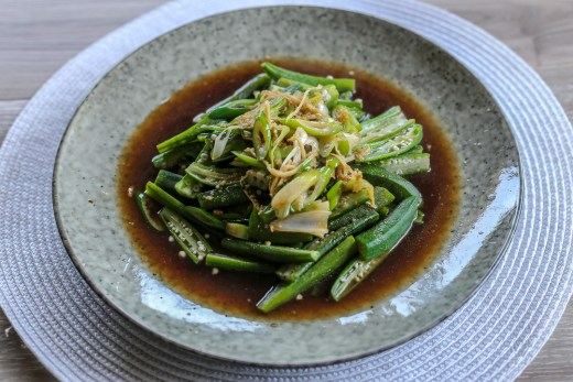 Okra with Garlic and Green Onion 1