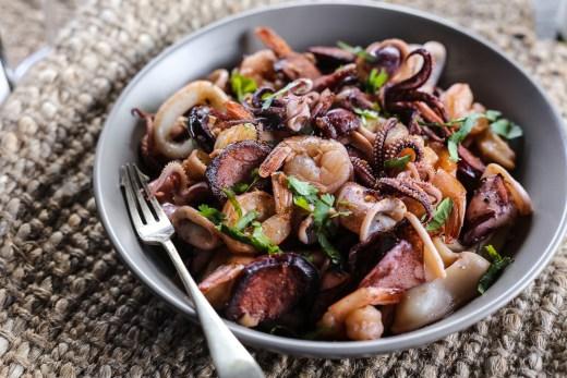 Squid, Prawns & Chorizo 1