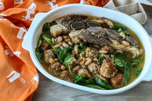 Beef Rib and Meatball Stew (T'fina Pkaila) 1