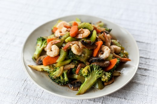 Broccoli and Prawn Sambal Stir Fry 1