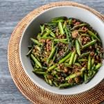 Asparagus and Minced Pork Stir Fry 1