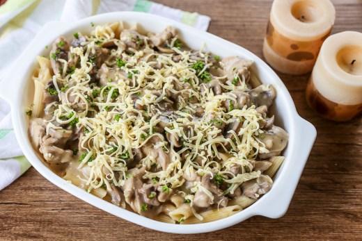 Creamy Chicken and Mushroom Pasta 1