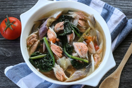 Sinigang na Salmon Belly 1