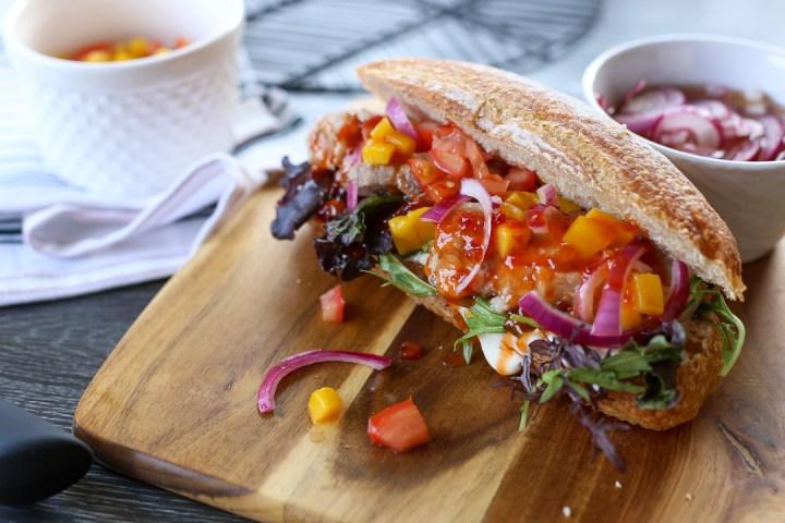 Pork Belly and Mango Salsa Banh Mi 1