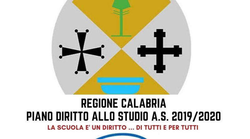 Regione Calabria: Piano Diritto allo Studio a.s. 2019/2020 ai sensi della L.R. n.27/85 e s.m.i