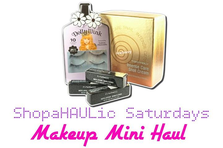 makeup mini haul mac heirloom mix  tony moly snail and mallorca steakhouse Mall Next House