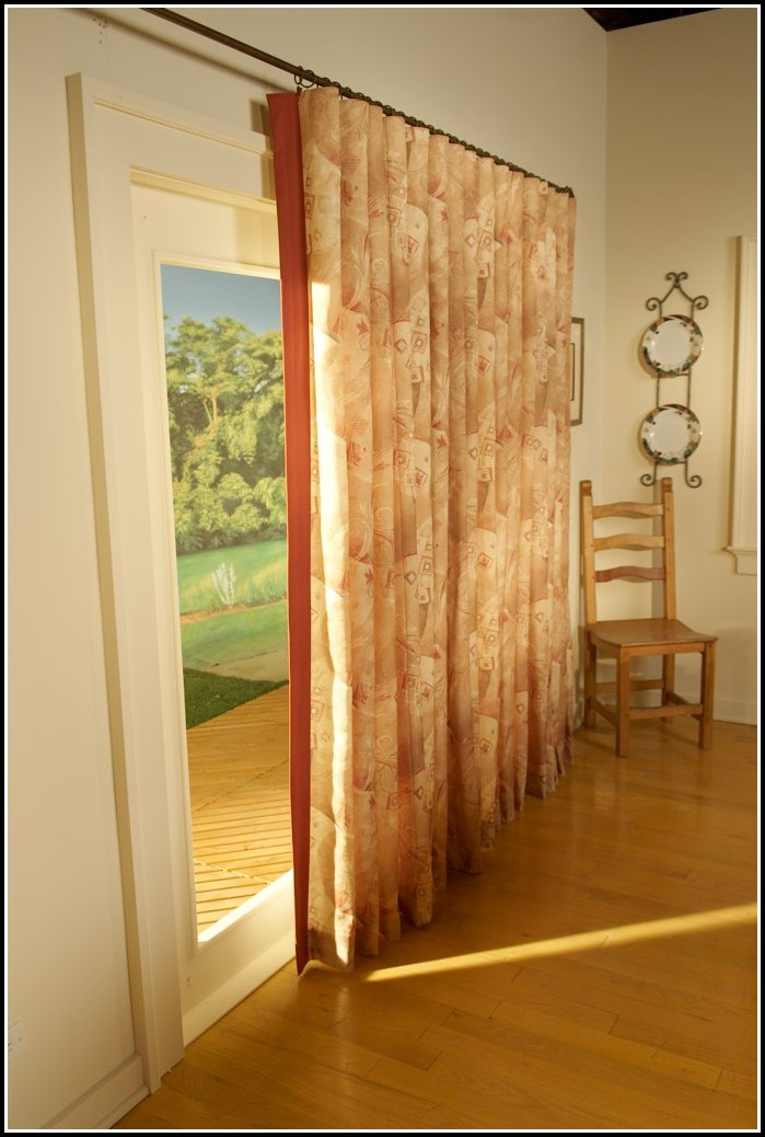 Patio Door Traverse Curtain Rod Curtains Home Design Ideas KWnMemlnvy27138