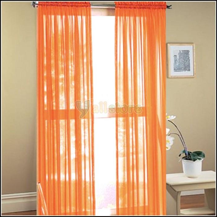 porto burnt orange eyelet curtains