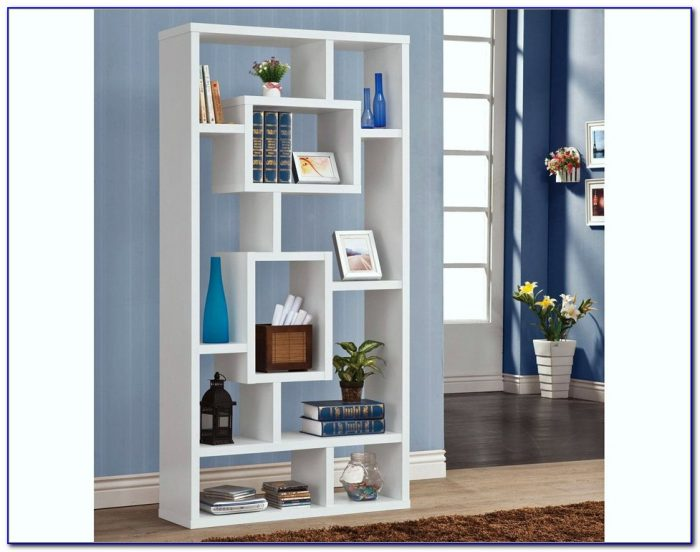 White Contemporary Bookshelves Bookcase Home Design