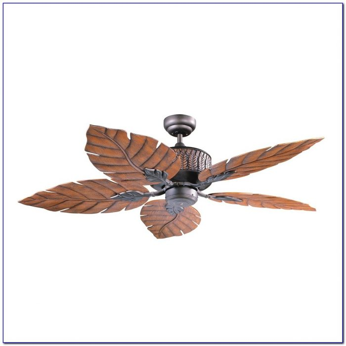 Ceiling Fan With Palm Blades Ceiling Home Design Ideas