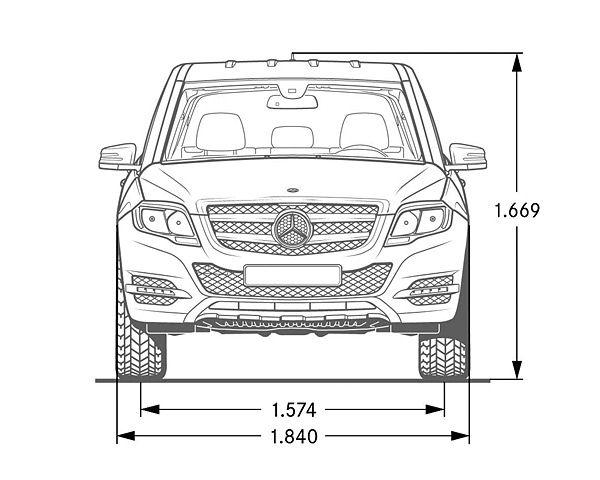 Mercedes Benz GLK Klasse X 204 Abmessungen