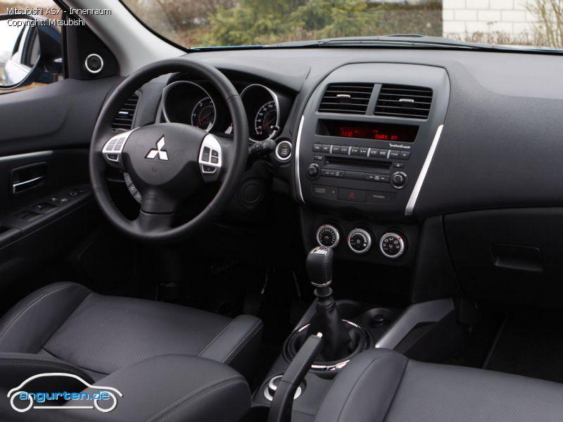 Foto Bild Mitsubishi ASX Innenraum Angurtende