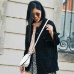 :: Outfit – Black Denim Jacket & Leo Mini Skirt