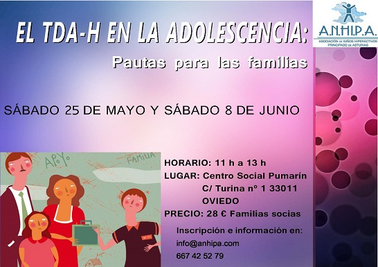 Curso Monográfico: El TDA-H en la Adolescencia: Pautas para Familias