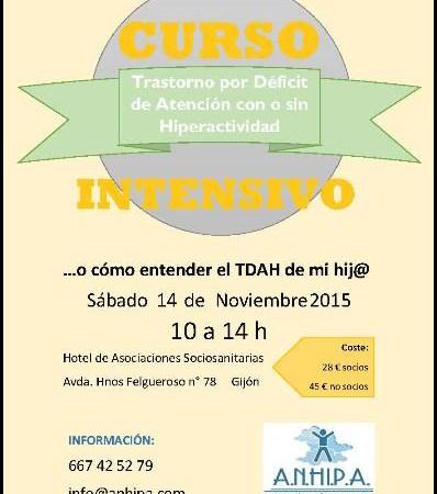 Curso Intensivo TDAH 14 Noviembre 2015