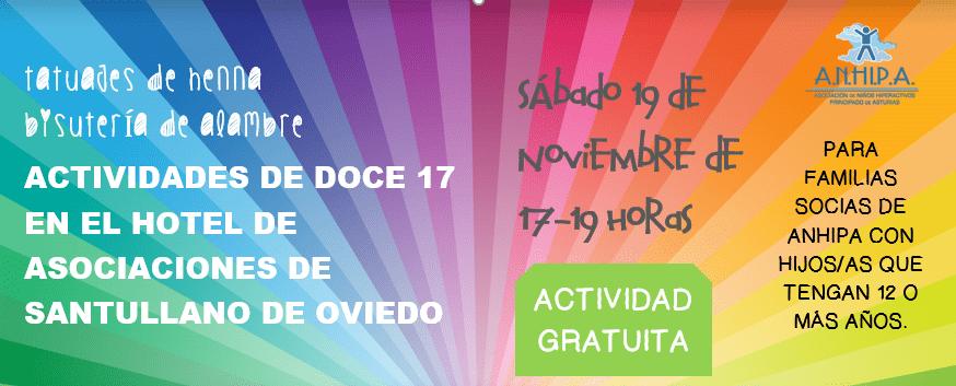 Actividades de DOCE 17 en el Hotel de Asociaciones de Santullano de Oviedo