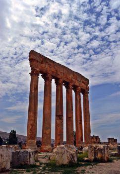 Baalbeck has the best ancient Roman ruins in Lebanon.