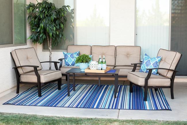 easy outdoor patio makeover a night