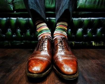 calcetines de hombre rayas