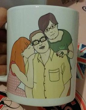 taza personalizada aniinthesky familia