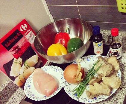 receta wok setas pollo teriyaki ingredientes