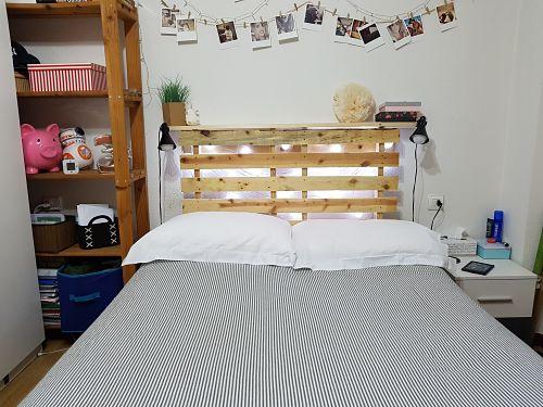 palet cabecero idea habitacion diy aniinthesky - Cabeceros Con Palets