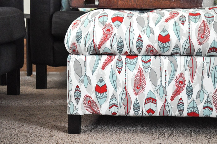 diy upholstered storage ottoman how