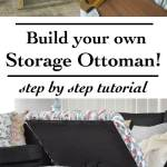 Diy Upholstered Storage Ottoman How To Build An Ottoman Full Tutorial