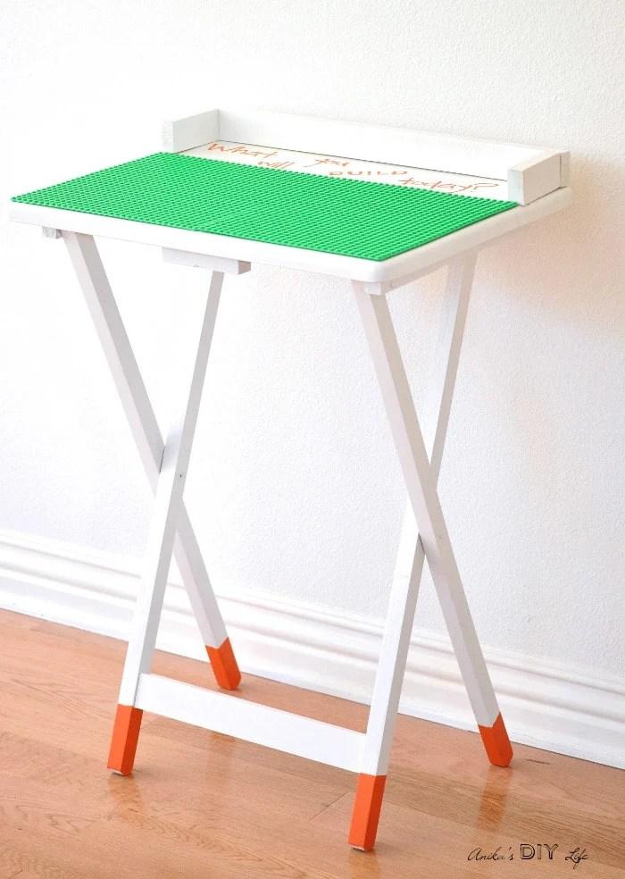 how to make a portable diy lego table