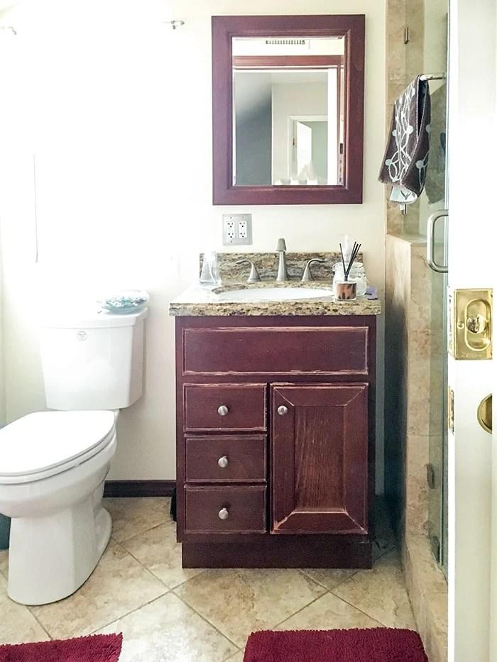 Small Bathroom Remodel - Ideas on a Budget - Anika's DIY Life on Small Space Small Bathroom Ideas On A Budget id=84839