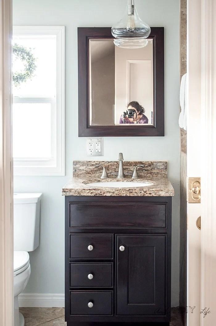 Small Bathroom Remodel - Ideas on a Budget - Anika's DIY Life on Small Space:t5Ts6Ke0384= Small Bathroom Ideas  id=68775