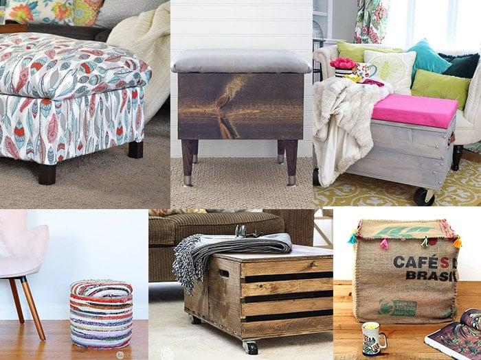 20 diy storage ottoman ideas for every