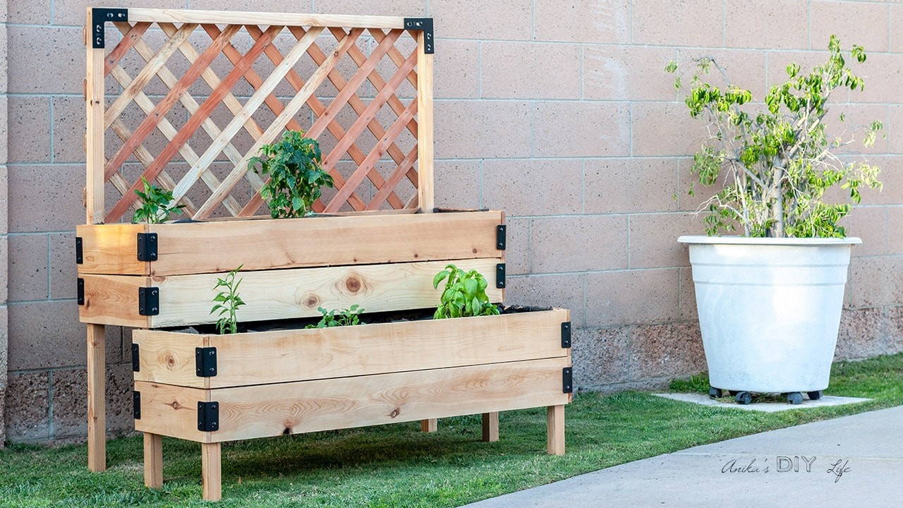 Diy Tiered Raised Garden Bed Full Tutorial And Plans Anika S Diy Life