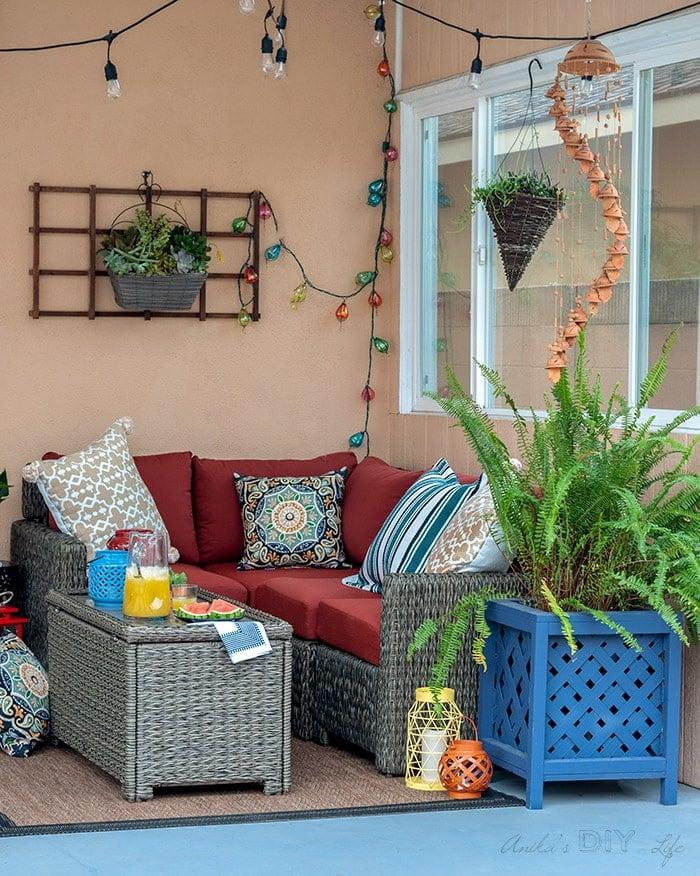 small patio decorating ideas a cozy