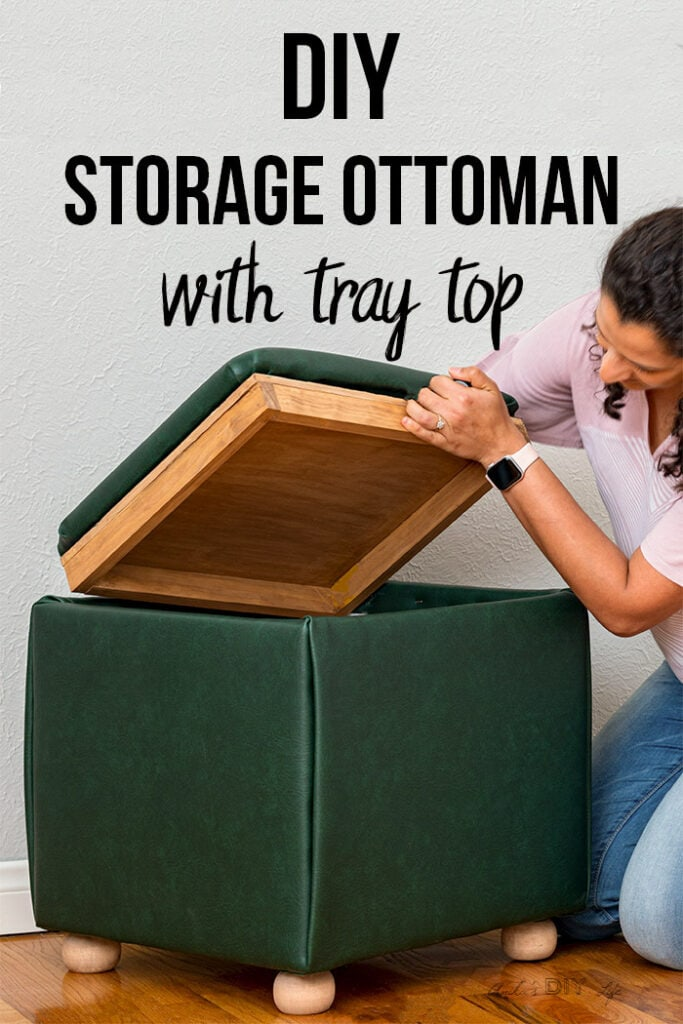 diy storage ottoman cube with tray top