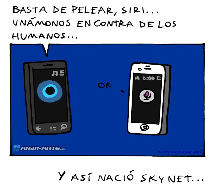 Cortana vs Siri | Web cómic