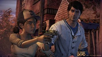 Clementine y Javier en The Walking Dead: Third Season.