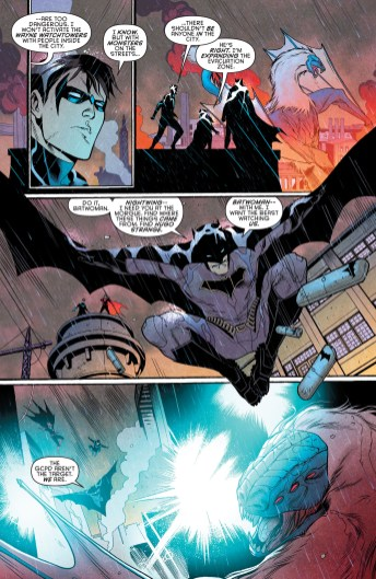 Nightwing #5, segunda parte de Night of the Monster Men.