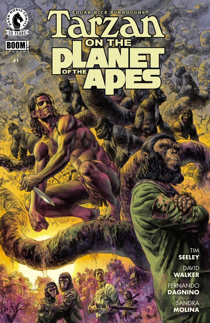 Portada del cómic Tarzan on the Planet of the Apes.