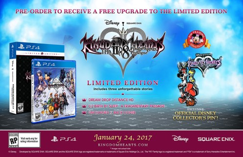 Contenido de la edición limitada de Kingdom Hearts HD 2.8: Final Chapter Prologue.