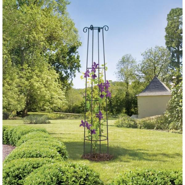 colonne metal support plantes obelisk