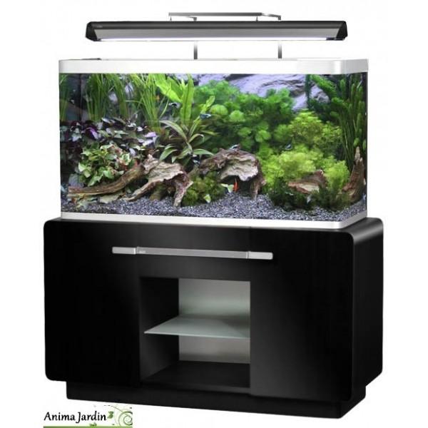 aquarium osaka 260 noir glossy avec meuble design pas cher