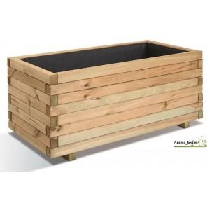 jardiniere 100 cm bois pour plantes stockholm autoclave achat vente